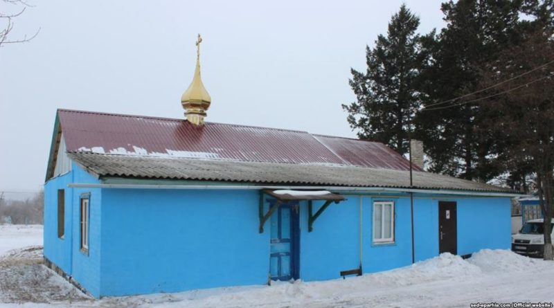 с. Веселе, Старобільського району біля храму
