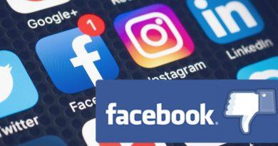 Большое обрушение Facebook